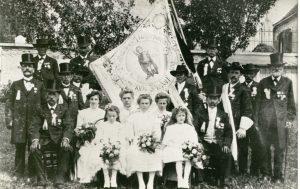 Fahnenweihe 18. Juli 1909 - Soldatenverein Diedorf