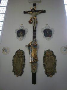 Gedenktafel in der alten Pfarrkirche 1918